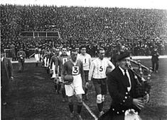 Argentina 1 Third Lanark 1 in June 1923 in Buenos Aires. The teams come onto the pitch on the Glasgow club's South American Tour. American Tours, World Football, American Football, Glasgow, Pitch, 1920s, Third, Dolores Park, June