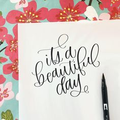 Hand Lettering by Kate Rondorf