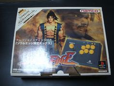 NEW! NAMCO Soul Edge Limited Box with Arcade Stick Controller PlayStation PS 864