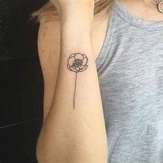 outline poppy tattoo - Yahoo Image Search Results