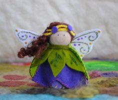 Tulip Flower Fairy Gnome Wood Peg Doll Waldorf by LasManitos