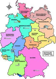 Map of Germany - campings CC geschikt voor gehandicapten in Duitsland http://www.campingcheque.nl/duitsland/