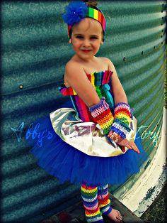 Rainbow Brite TuTu Costume by Abbys TuTu Factory,>>so cute i want to do desi as rainbow brite for halloween...she loves rainbow brite!
