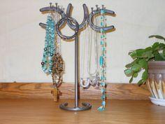 Horseshoe Standing Jewelry Organizer by LizzyandMe on Etsy
