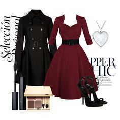 Stylish Formal Outfit - a Polyvore creation Dress(in a different pattern) perfect for stepford wife costume