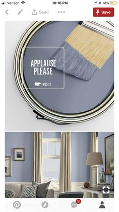Lavender hue, darker value, and a decreased chroma Behr Paint Colors, Room Paint Colors, Interior Paint Colors, Paint Colors For Home, Bedroom Colors, Wall Colors, House Colors, Bedroom Decor, Interior Design