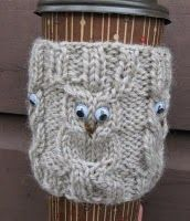 Owl Coffee Cup Cozie...Need to learn to make this one