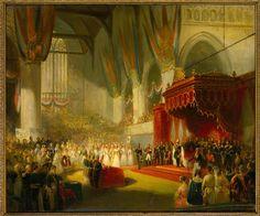 De inhuldiging van koning Willem II in de Nieuwe Kerk te Amsterdam, 28 november 1840