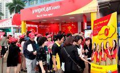 Trong vòng 3 ngày bắt đầu từ ngày mai 11/09, Vietjet Air sẽ chính thức mở gian hàng bán vé máy bay giá rẻ tại hội chợ du lịch quốc tế tại thành phố Hồ Chí Minh