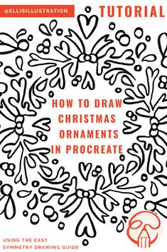 Procreate Symmetry Drawing Guide is cool tool to draw all kinds of Christmas ornaments like snowflakes #procreate #tutorial #christmas #christmasart #holidaycraft Christmas Art, Christmas Ornaments, Drawing Guide, Speed Paint, Digital Art Tutorial, Cool Tools, Art Tutorials, Holiday Crafts, Painting & Drawing