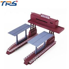 HO scale plastic model train station Railroad Layout General train accessories scene game model essential materials. Yesterday's price: US $10.00 (8.73 EUR). Today's price: US $9.30 (8.18 EUR). Discount: 7%.