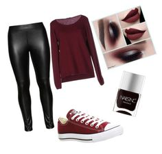 """Untitled #129"" by jasmina-okanovic2 ❤ liked on Polyvore featuring Fred Perry, Studio, Converse, Nails Inc., women's clothing, women, female, woman, misses and juniors"