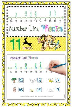 FREE Number Line Phonics (ee/ea) / Numbers 10-20 / Vowel Combinations: tree, feet, bee, three, see, greet, bead, meal, beak, read, peak, seal, beach, beam, peach, team, reach, dream, scream, cheap, heap, steam, leap, stream.