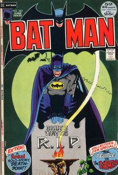 """Besides this cryptic cover by Mike Kaluta: NEW! Ra's al Ghul knows Batman's identity, so he """"kills"""" Bruce Wayne. At least """"The Demon's Head"""" doesn't know about Matches Malone. While the Dark Knight allies with a yellow dragon, the Boy Wonder saves a co-ed from cultists. OLD! In a 1941 case, it's """"The People vs. the Batman."""""""