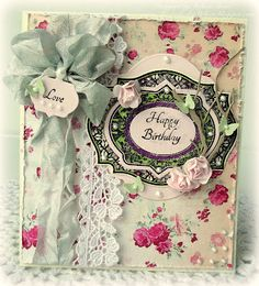 A Shabby Birthday card designed by Melissa Bove