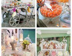 Love Is Sweet: 55 Wedding Candy Bar Ideas – Wedding Centerpieces Wedding Aisle Decorations, Wedding Centerpieces, Candy Bar Wedding, Wedding Favors, Wedding Bouquets, Wedding Gifts, Wedding Dresses, Card Box Wedding, Wedding Trends