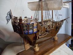 Scratchbuilt Pirate Raider Handcrafted Plank on Frame Model not from A Kit   eBay - REDUCED ! Reg. Starting Auction Bid - $289.00 !!!