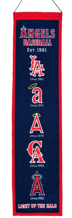 Hot new item just added today Los Angeles Angel.... Click here http://everythinglicensed.com/products/los-angeles-angels-wool-heritage-banner-8x32?utm_campaign=social_autopilot&utm_source=pin&utm_medium=pin take a closer look.