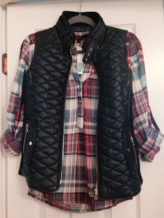 In love with my Navy vest and plaid top from my first Stitch Fix!  Spot on!  https://www.stitchfix.com/referral/4435272