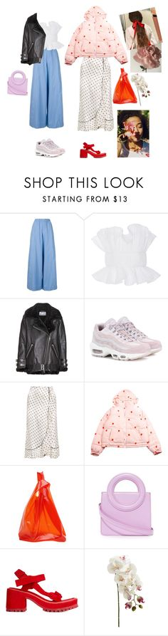 """""""strawberries"""" by rsussher ❤ liked on Polyvore featuring Erika Cavallini Semi-Couture, Roberto Cavalli, Acne Studios, NIKE, Ganni, Jil Sander, Opening Ceremony and Marques'Almeida"""