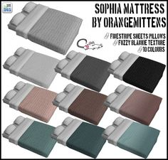 Orangemittens' Sophia Mattress recolors at Loverat Sims4 • Sims 4 Updates