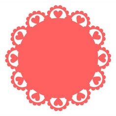 Silhouette Design Store: doily with hearts