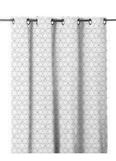 Rideau en Etamine à Imprimés Graphiques (Anthracite), (Blanc), (Rouge), (Taupe) - Homemaison : vente en ligne rideaux