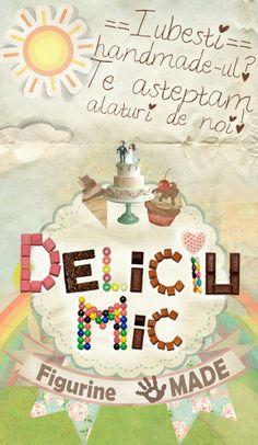 Deliciu Mic loves Handmade Birthday Cake, Creative, Desserts, Handmade, Journals, Tailgate Desserts, Deserts, Hand Made, Birthday Cakes