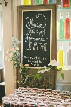 chalkboard sign--wording?? Larkspur Wedding from OneLove Photography  Read more - http://www.stylemepretty.com/2013/08/30/larkspur-wedding-from-onelove-photography/