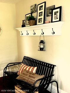 I want to make shelves like this! : Our Vintage Home Love: Cottage Living Inspired Ledge
