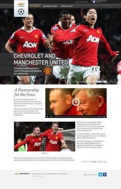 Chevrolet and Manchester United by Paul Kelley, via Behance