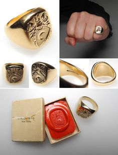 signet ring I love these. I never knew they had a dual purpose.