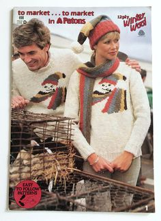 Vintage Patons knitting pattern book no. 698   to market ...