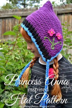 Princess Anna inspired crochet hat with pattern»Over The Apple Tree. ☀CQ #crochet #apparel  http://www.pinterest.com/CoronaQueen/crochet-apparel-corona/
