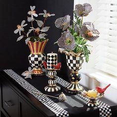 MacKenzie-Childs   MacKenzie-Childs   Hand-painted ceramics, dinnerware, home decor, furniture
