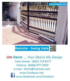 Lim Decor is One Stop Service for make your dream comes true, We are Leader of Steel furniture, Steel Gate, Railing, Roofing, Ladder, Bed, and made to order goods.  CallCenter: +6686-977-4550, +6686-971-8705, +662-719-9277   Fax : +662-318-1895 Email: thkrits@gmail.com  Line : Limdecor&s.tudnger WhatsApp: +6686-971-8705 www.limdecor.net