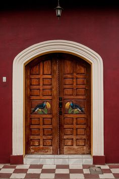 Granada, Nicaragua - Photo of Colorful Doorway