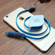 Retractable 2 in 1 Charging Cable