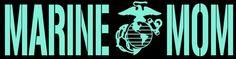 Marine Mom Decal - United States Marine Corps USMC Sticker Auto Car   LilBitOLove - Housewares on ArtFire
