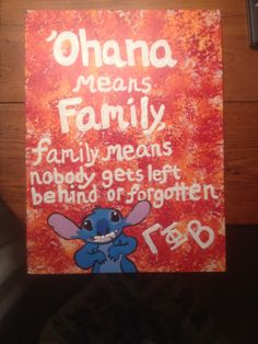 A painted canvas craft I made for my God Little before initiation. Gamma Phi is a family.  <3