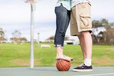 Basketball engagement photography in Newport Beach by TréCreative Film&Photo http://trecreative.com/