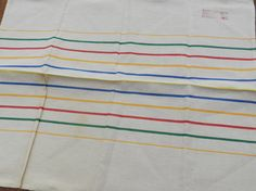 French Vintage Kitchen Cloth  Stripes by LaVieEnNoirGallery, £20.00