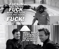 The Boondock Saints. Words cannot describe how much I love this movie. This scene is hilarious! Boondock Saints Quotes, Boondock Saints Tattoo, Boondocks, Spiritus, Movie Lines, Stuff And Thangs, Look At You, Great Movies, The Boondock Saints