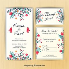 More than a million free vectors, PSD, photos and free icons. Exclusive freebies and all graphic resources that you need for your projects Menu Card Design, Wedding Card Design, Wedding Invitation Design, Wedding Cards, Our Wedding, Thank You Party, Letter Vector, Restaurant Wedding, Watercolor Lettering