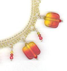 #crochet wire autumn bracelet