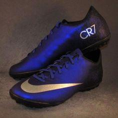 ebf6f2e5553 Men s Nike Mercurial Victory V CR7 TF Soccer Shoes Size 10 Blue  Nike Soccer  Shoes