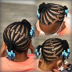 Little Girls Natural Hairstyles, Little Girl Braid Hairstyles, Toddler Braided Hairstyles, Braids Hairstyles Pictures, Baby Girl Hairstyles, Children Hairstyles, Black Hairstyles, Easy Hairstyles, Little Girl Braid Styles