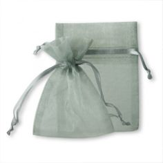 Large Sheer Organza Favor Bags - Silver Gray - CLEARANCE! [Silver Wedding Favor Organza Bag] : Wholesale Wedding Supplies, Discount Wedding Favors, Party Favors, and Bulk Event Supplies