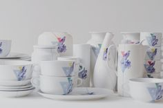 """""""we are family"""" series of reunited, not new porcelain pieces by kollektiv plus zwei Create Your Own Website, We Are Family, Porcelain, Ceramics, Tableware, Design, Ceramica, Porcelain Ceramics, Pottery"""