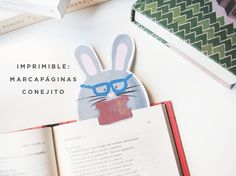 milowcostblog: imprimible: marcapáginas de conejo